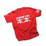 Pirate T-Shirt Straight-Red Kid 140